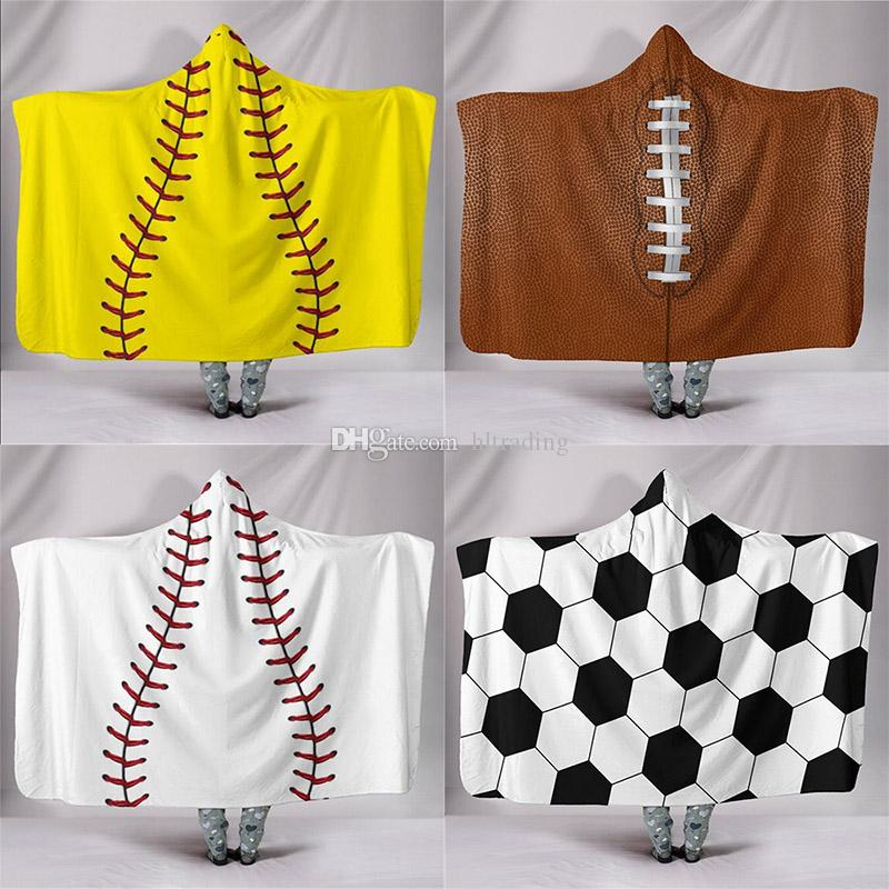 Football Theme Kids Printed Poncho Towels England White