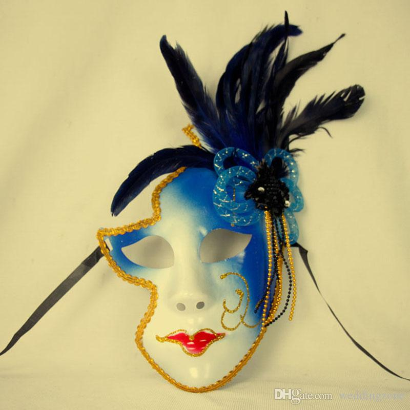 Venice Mask Halloween Female Mask 3 Colors Personality Gifts Clown Masquaerades Italy Style Venetian Full Face Masks