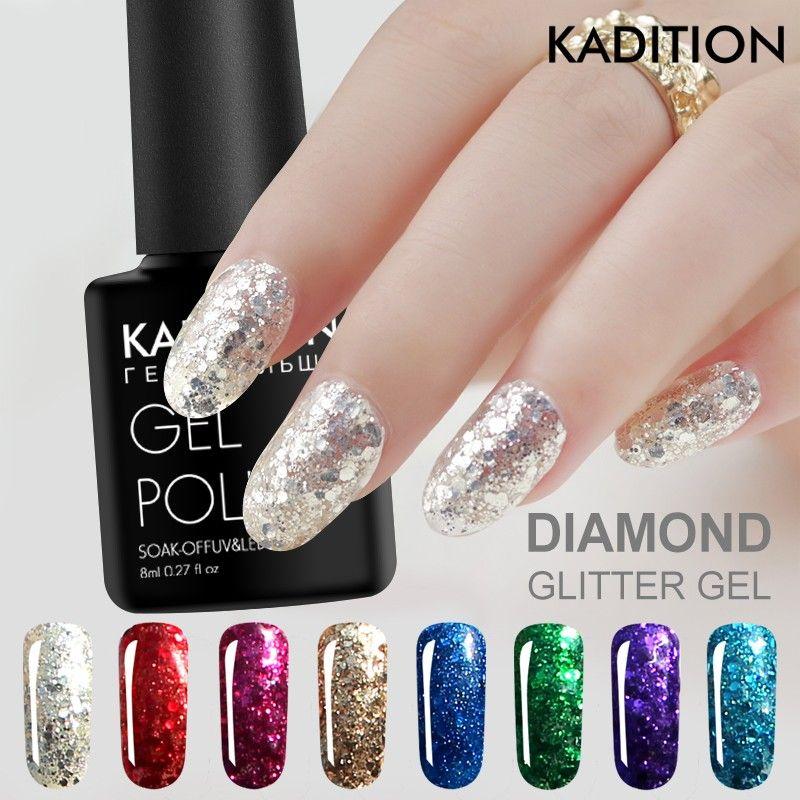 Gel polish diamond nails