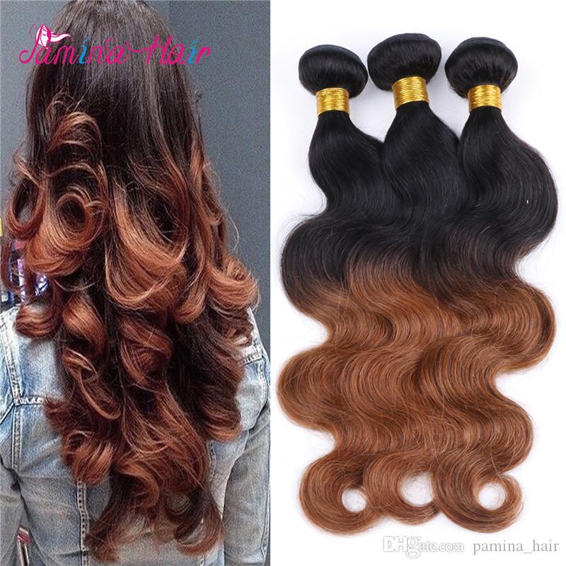 Malasio Body Wave 4 Bundle Malasio Body Wave Deals Barato Ombre El cabello humano de Malasia mojado y ondulado teje el pelo