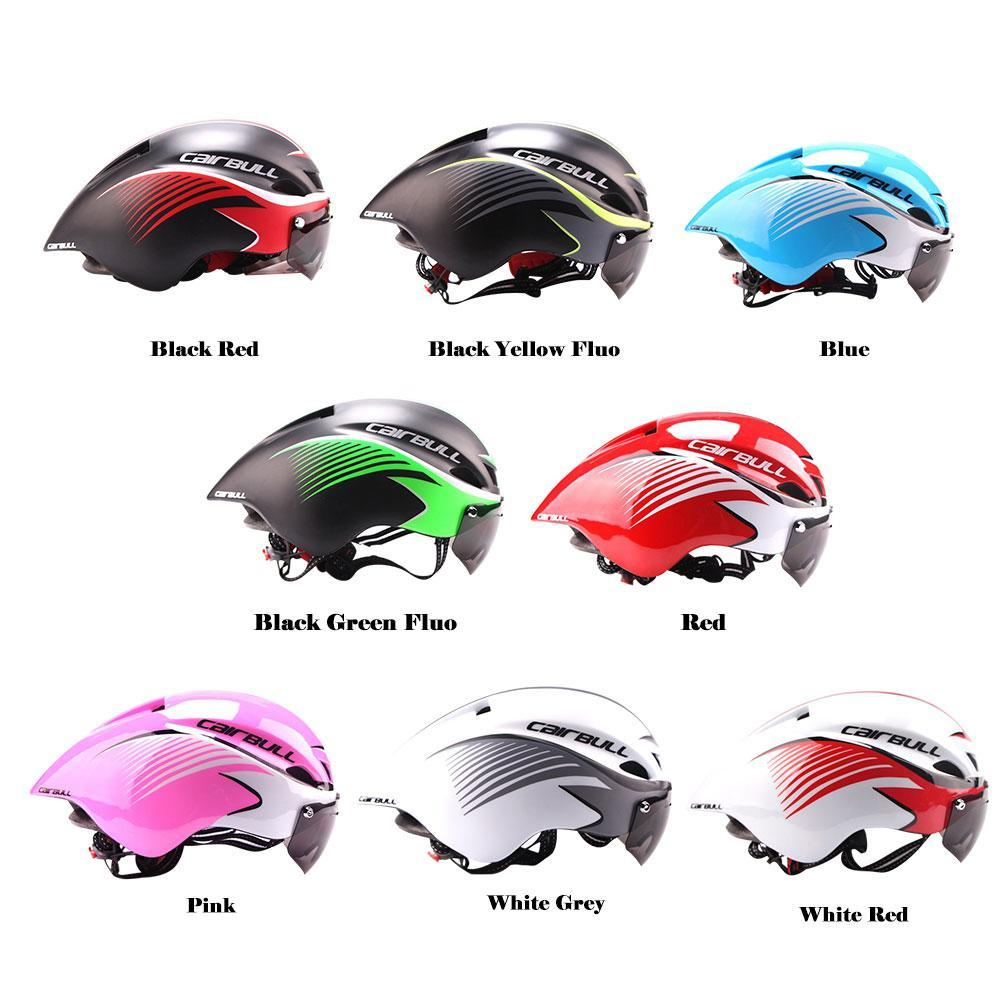 Hot Aero Goggles Bike Helmet Road Cycling Outdoor Sport Safety Helmet Bicycle Racing Ultralight Integrally-Molded