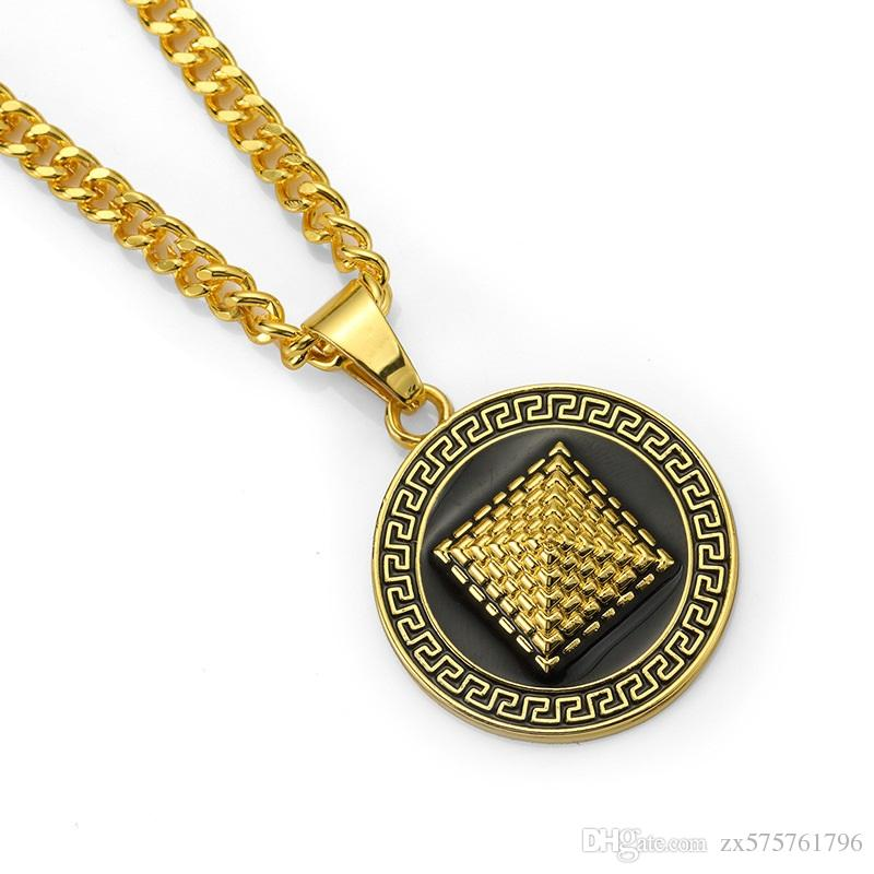Wholesale Fashion Design Men Hip Hop Round Pyramid Pendant Necklace 75cm Long Chain Gold Silver Color Men Popular Necklace Jewelry For Men Gold Jewelry Rose Gold Necklace From Zx575761796 7 43 Dhgate Com