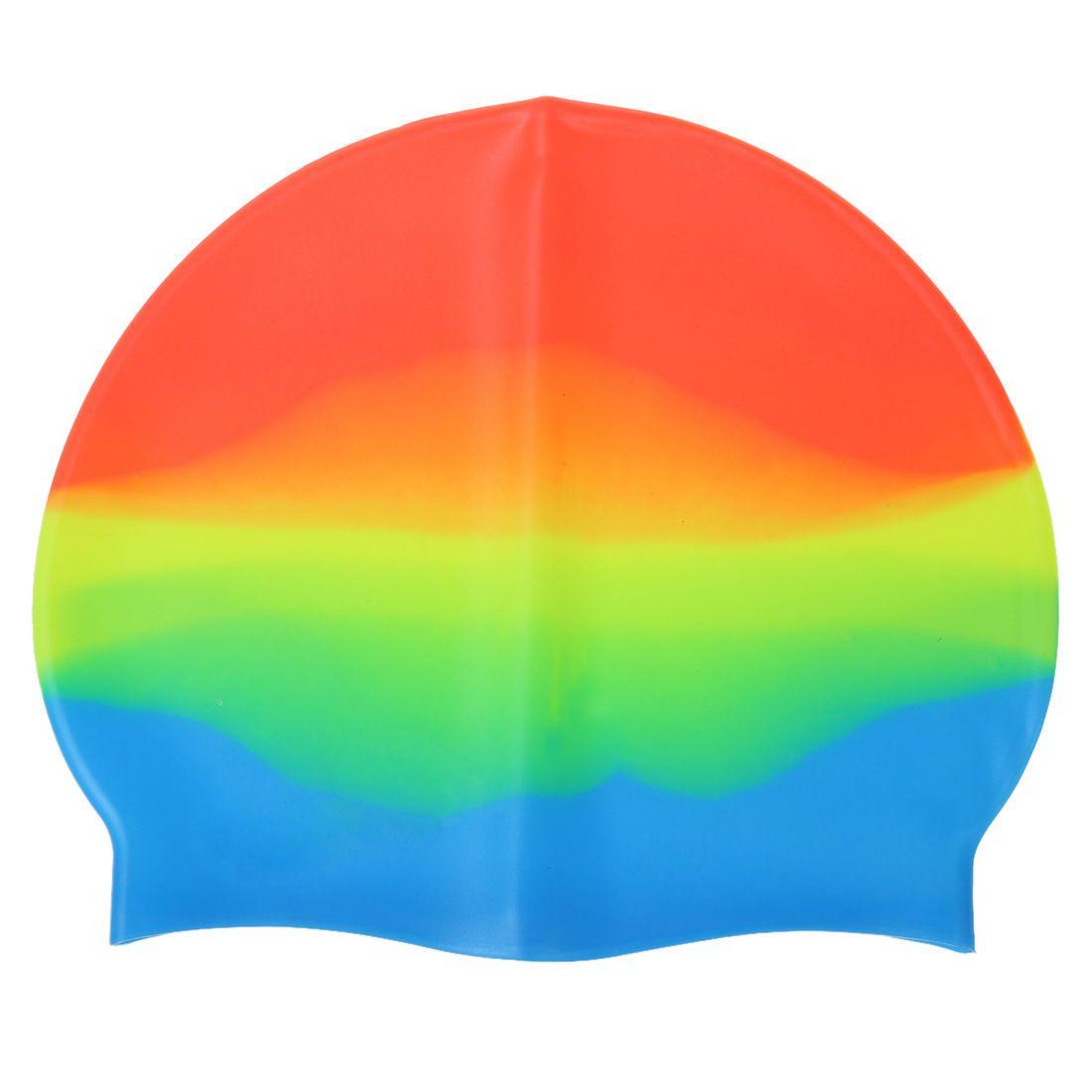 새로운 판매 성인 실리콘 수영 모자 다채로운 스트레칭 수영 모자