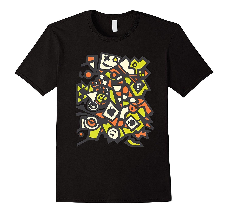 Art Decor Boys and Girls All Over Print T-Shirt,Crew Neck T-Shirt,Grafitti Like