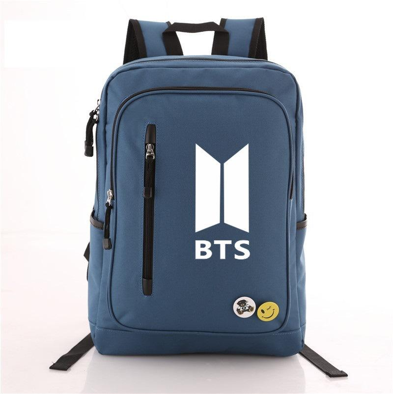 New Canvas Nylon BTS Preppy Style Bangtan Boys Backpack Starry Bag UK STOCK