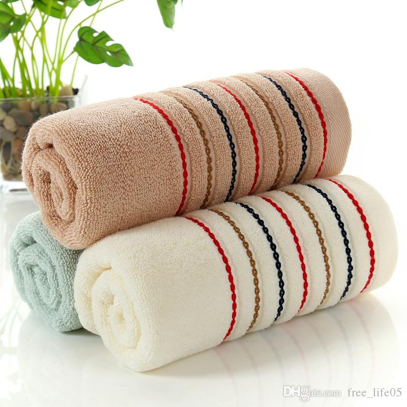 34x74cm 100/% Cotton Towel Absorbent Solid Color Soft Comfortable Towels