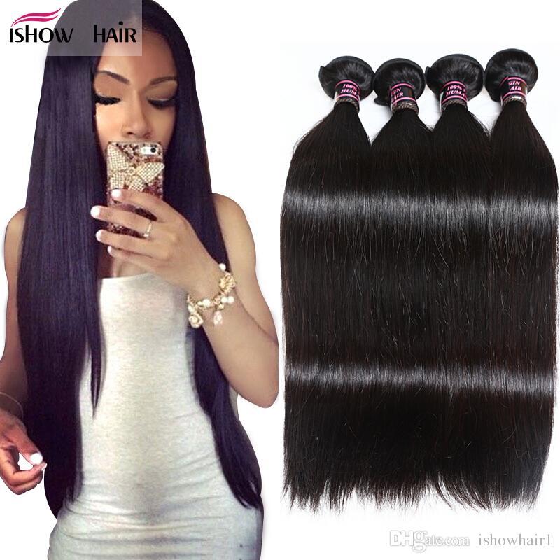 8a visone brazioso dritto non trasformato brasiliano peruviano vergine dei capelli umani bundle all'ingrosso vrigin capelli malaysiani estensione dei capelli lisci