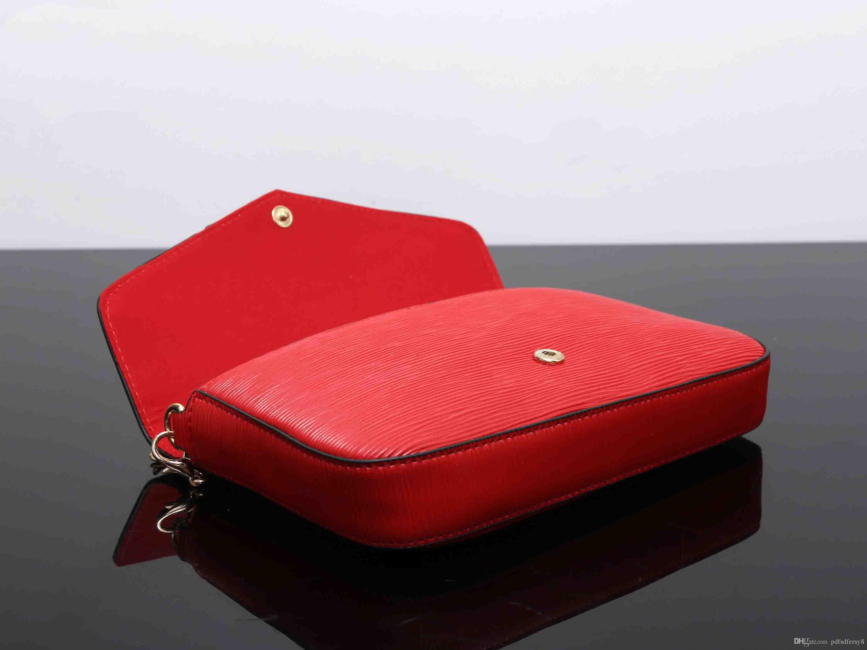 2018 factory prices sale Small styles Women shoulder bags whole Red sup leather high quality Crossbody 23cm chain equisite purses