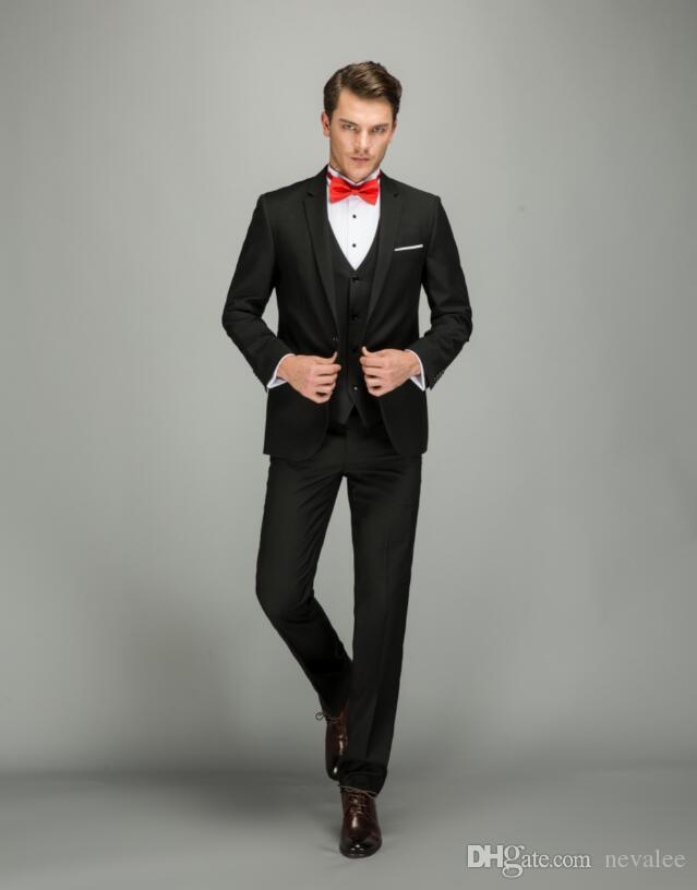 439729c6aa Business Suits Men Brand Slim Fit Latest Coat and Pants Vest Designer Black Suit  Set Formal ...