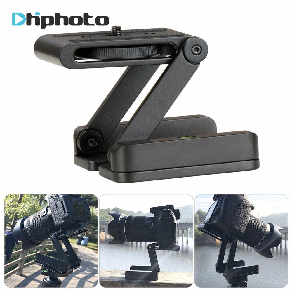 wholesale Folded Z Pan Tilt Camera Tripod Ball Head Flexible Tripod Stand Holder with Quick Release Plate for Nikon Canon Camcorder