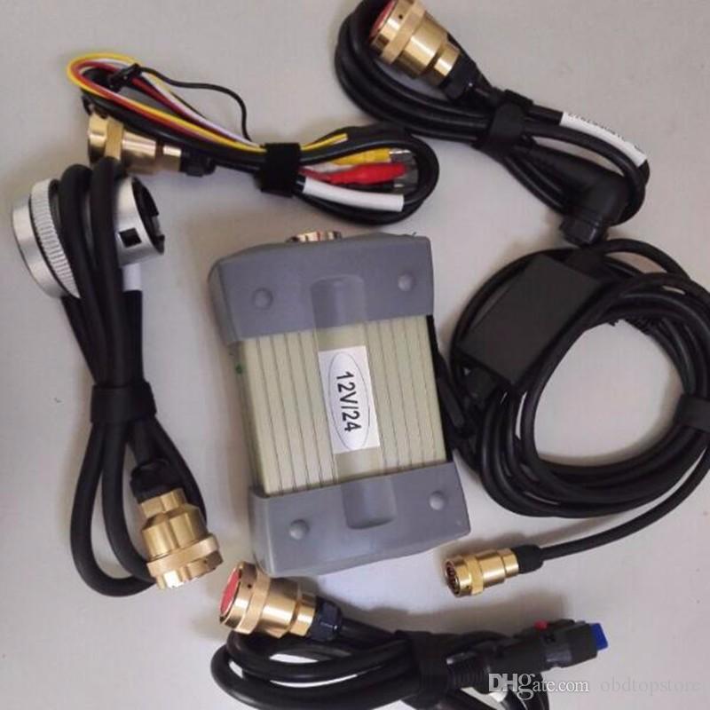 (12v / 24v) MB Estrela C3 Com 5 Cabos Ferramenta de Diagnóstico Auto MB C3 sem HDD mb estrela c3 Para Caminhão / Analisador de Motor de Carro multi-idioma