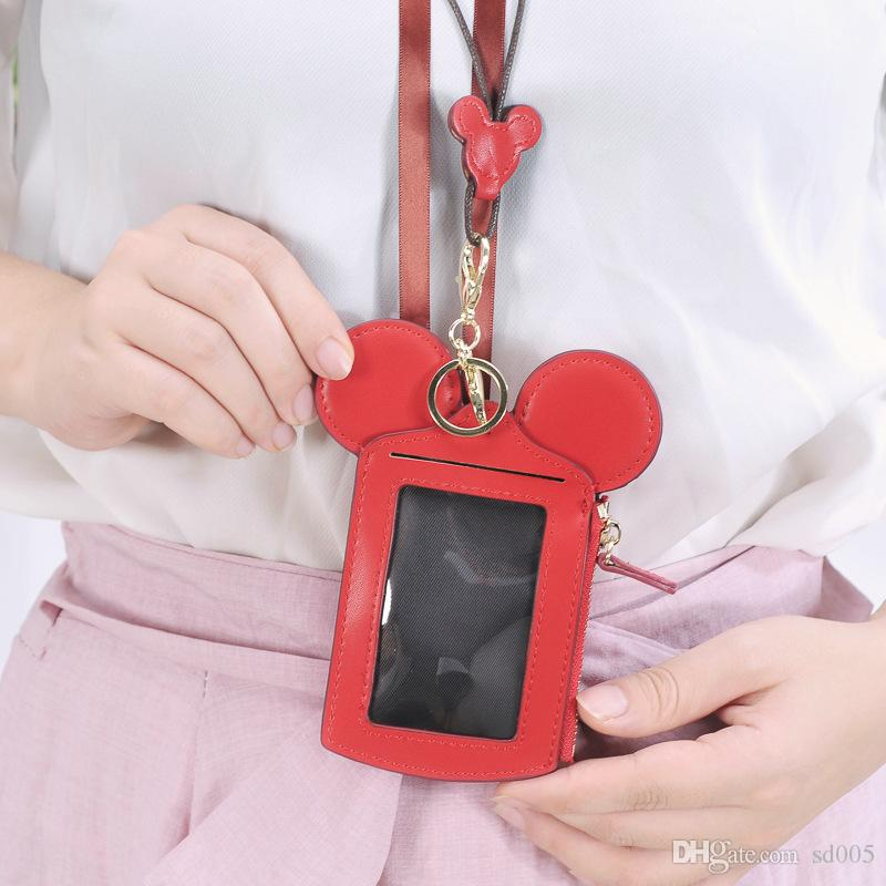 Short Coin Purse Bus Entrance Guard Multi Card Position Chest Hang Happy Dream Cards Cover Card Bag Click Walle 14jy cc