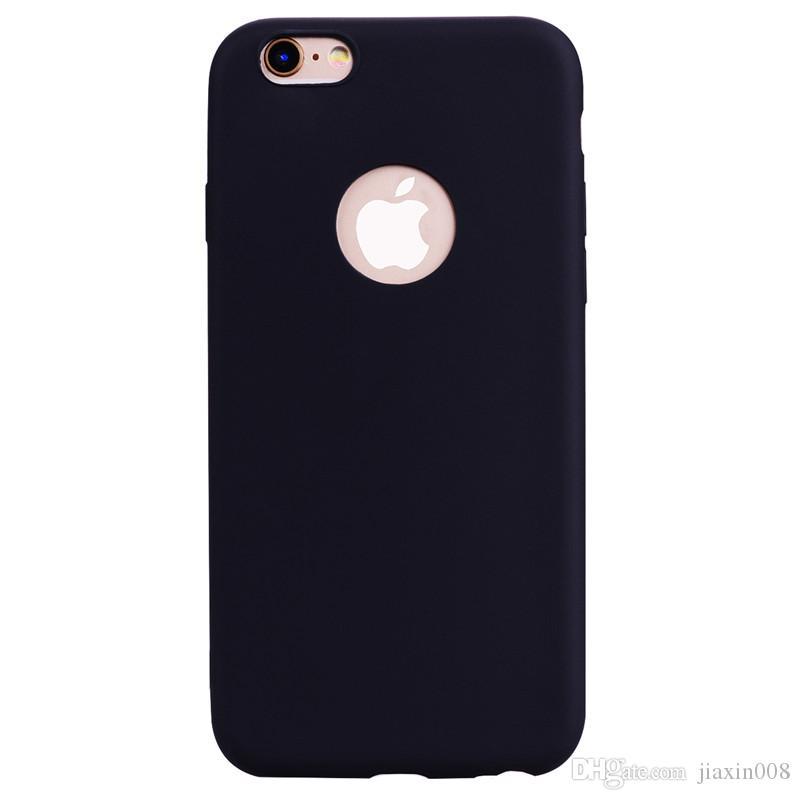 IPhone 6 6 S Durum Arka Kapak Yumuşak TPU Şeker renk serisi Ultrathin Tasarımcı Mobie Telefon Kılıfı Capinha iPhone 7 Için iPhone 8