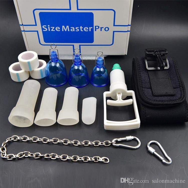 Super valeur Crochet de chaîne Aspirateur Taille Master Pro Mâle PENIS ENLARGEMENT Brancard Extender Enlarger Enhancement Pump SizeMaster