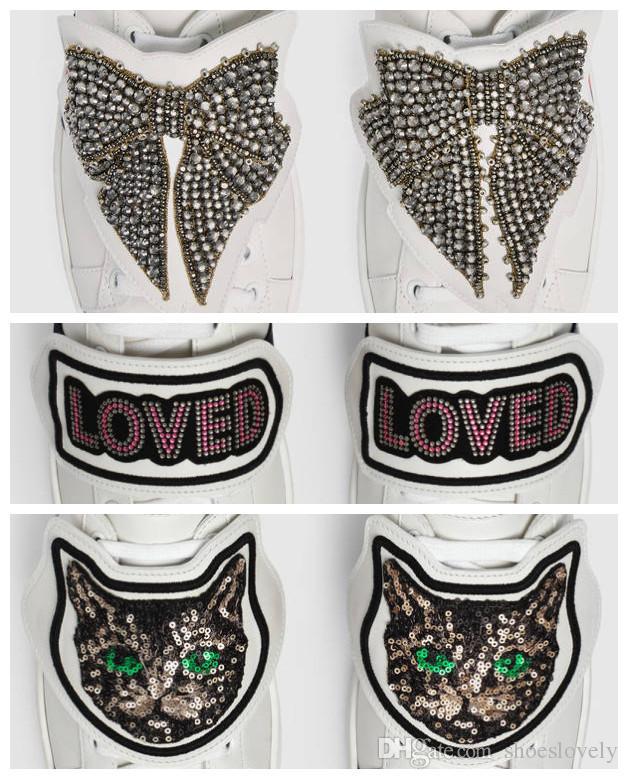 Geri Çıkarılabilir Ayakkabı Süslemeleri, daha fazla stil ile bir çift ayakkabı, Aşk Kedi Yama için Kaplan Kör Kelebek