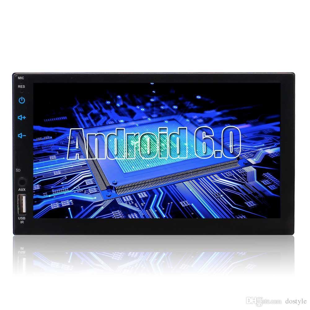 Eincar Çift Din Dokunmatik Bluetooth Handsfree araba 7 '' LCD Monitör GPS Navigasyon USB / Mirco SD Kart Yuvası AM / FM RDS Radyo RCA AUX