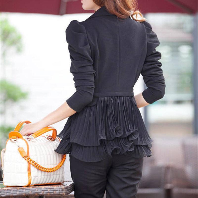 biktble 2017 6XL giacca da donna abiti da lavoro a risvolto corto piccolo vestito femminile giacca sportiva blazer e giacche costume J135