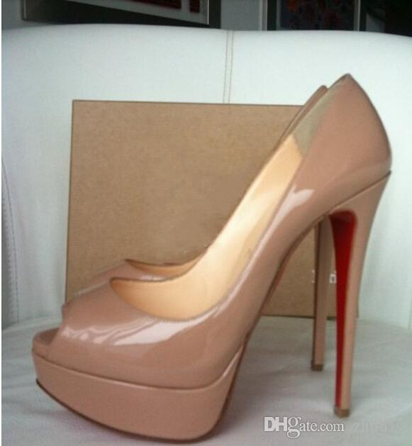 2018 Red Bottom Leather diamond High Heels Peep-Toe Women Shoes Sexy Studded Red Sole Heel Woman wedding Pumps