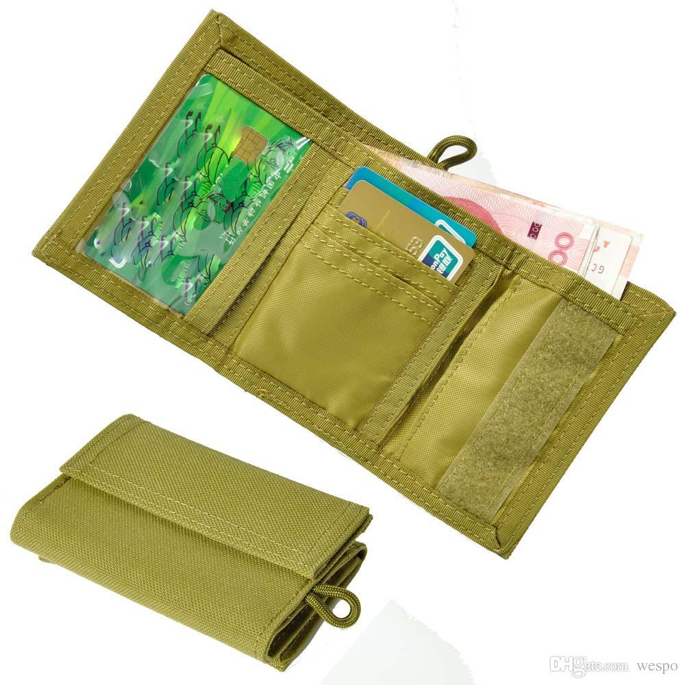 디자이너 지갑 전술 트라이 배 나일론 신용 카드 홀더 주최자 1000D 나일론 방수 캐주얼 경찰 EDC ID 홀더 지갑