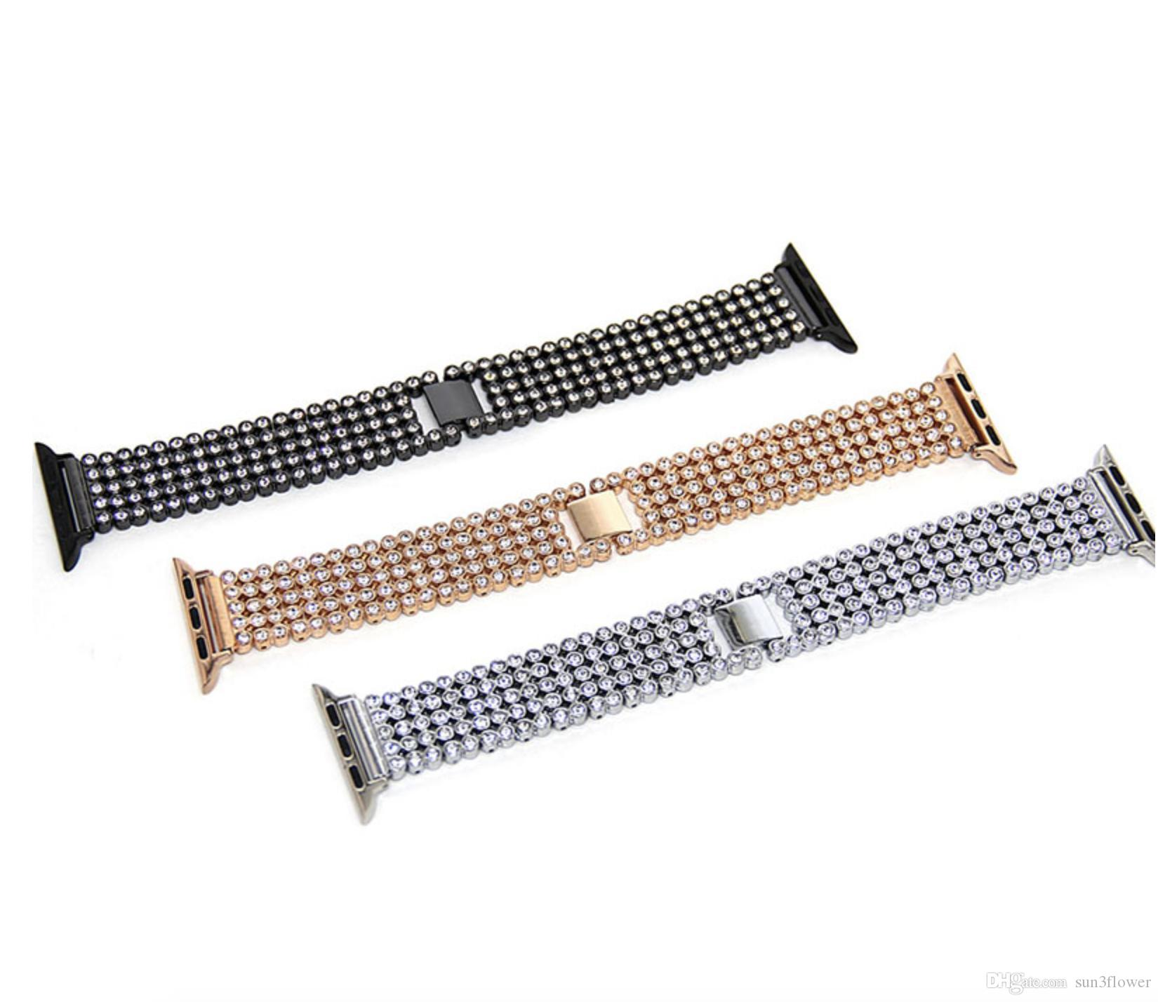 Silver Black Rose Gold Stainless Steel Bracelet Buckle Strap for Apple Watch Band Series 1 Series 2 Series 3 38mm 42mm
