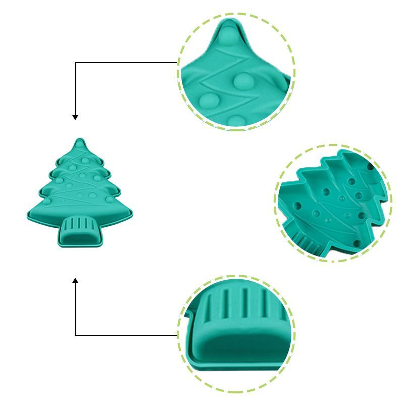 1 шт. Рождественская елка силиконовые формы для тортов печенье шоколад выпечки Пан формы для выпечки инструменты Бесплатная доставка