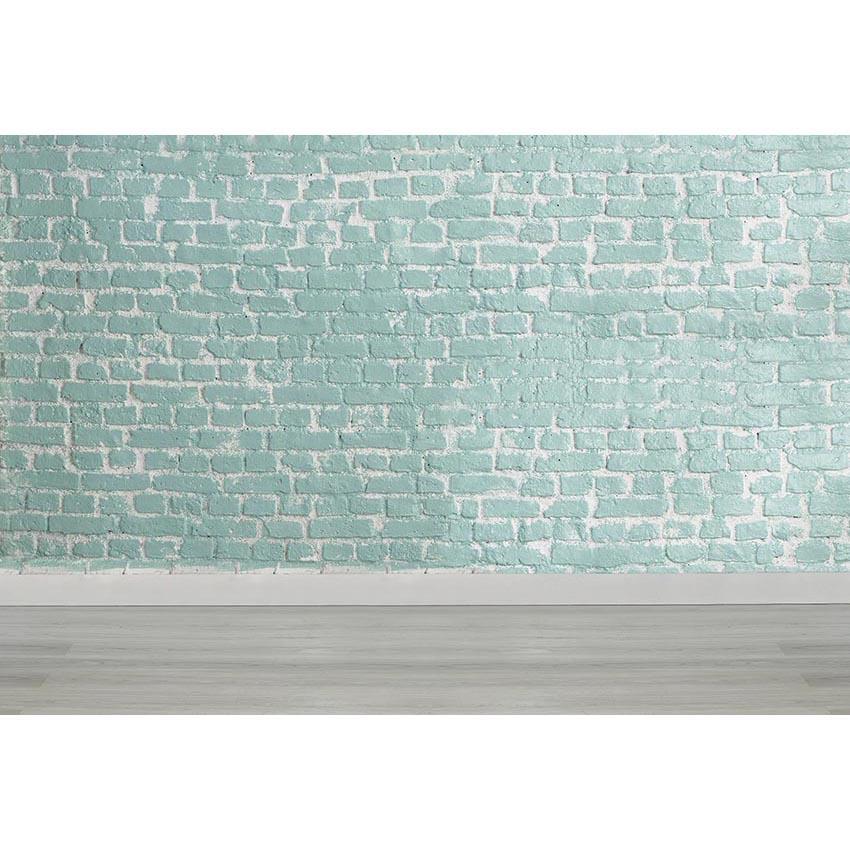 Mur de briques vert clair photographie décors bois plancher nouveau-né bébé douche accessoires enfants enfants mariage photo studio arrière-plans