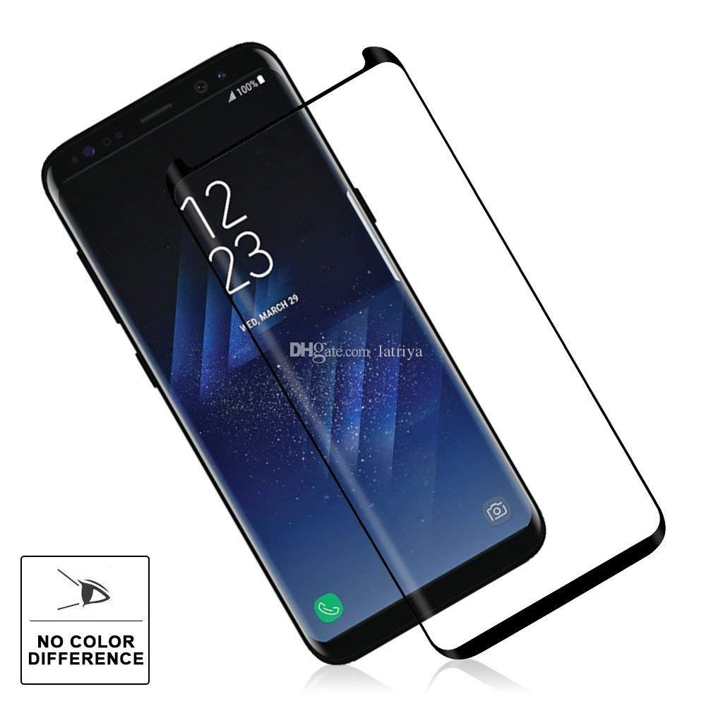 Case Friendly Tempered Glass 9H Hardness 3D Curved High Definition Ultra Clear For Galaxy S9 Plus 8 S8 Plus S7 Edge S6 edge Horn Design