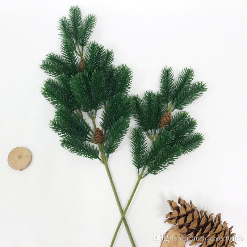 JAROWN Artificial Plastic Plants Simulation Christmas Pine Cone Pine Tree Branch Wedding Decoration Home Party Decor Flower