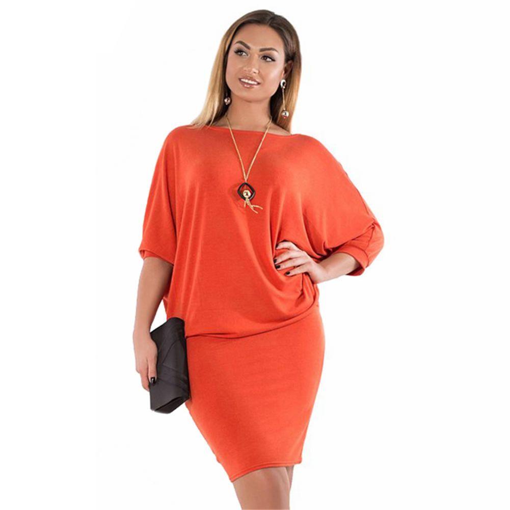 2019 Women Bodycon Wrap Dress Batwing Sleeve EleLadies Office Work Wear  Mini Dress Plus Size 3XL 4XL 5XL 6XL Summer 2018 From Florence33, $26.32 |  ...