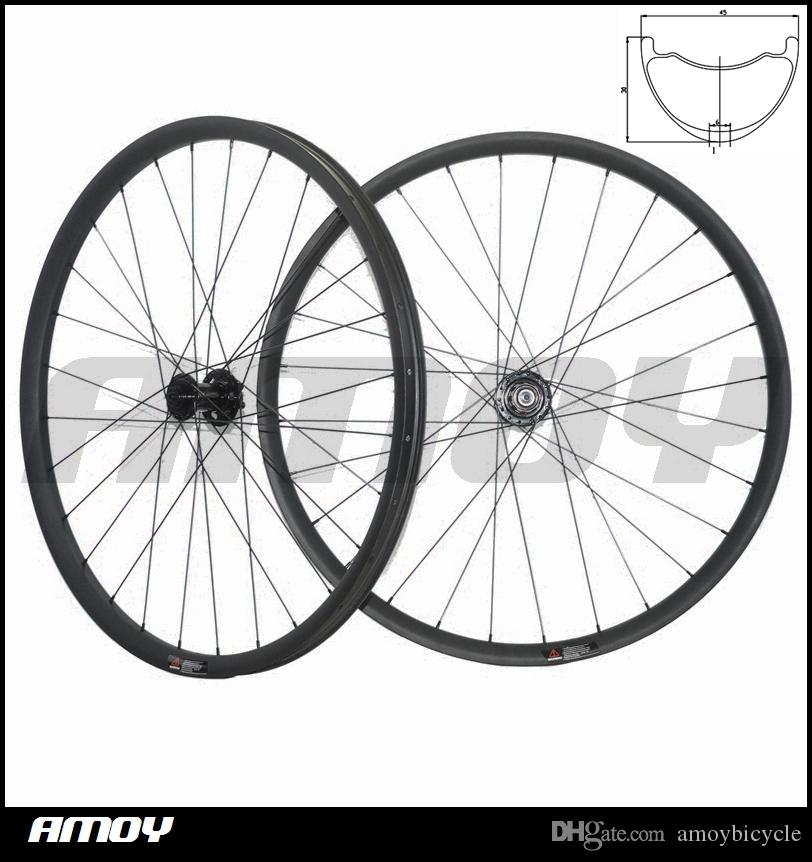 27.5er MTB XC race 27mm wide offset Mountain Bike Carbon racing Wheel set Hookless Tubeless Width 45mm* Depth 25mm 27.5er Plus Wheelset Carb