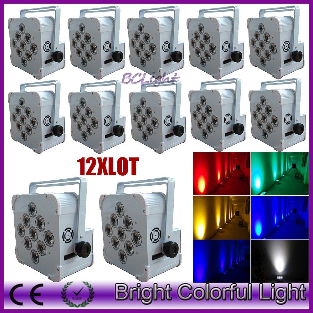 12XLOT best selling new 9*18w Wireless dmx Battery Powered LED Par upLight RGBWA+UV 6in1 Color PAR Can LED DJ Wash Light DJ Lights