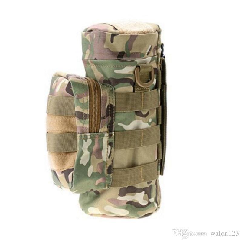 Großhandel Tactical Camouflage Militray Molle Reißverschluss Wasserflasche Trink Beutel Wasserkocher Tasche Taille Packs Kostenloser Versand