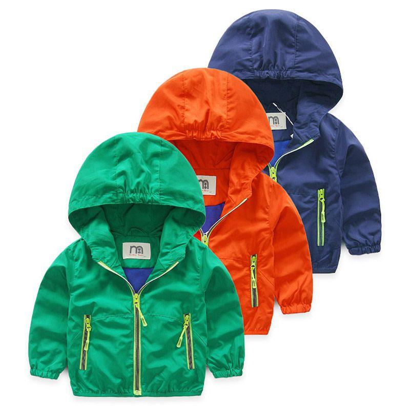 4ca28a8cd Chaquetas y abrigos para niños Chicos pequeños Chaqueta de otoño Ropa con  capucha Abrigo para niños
