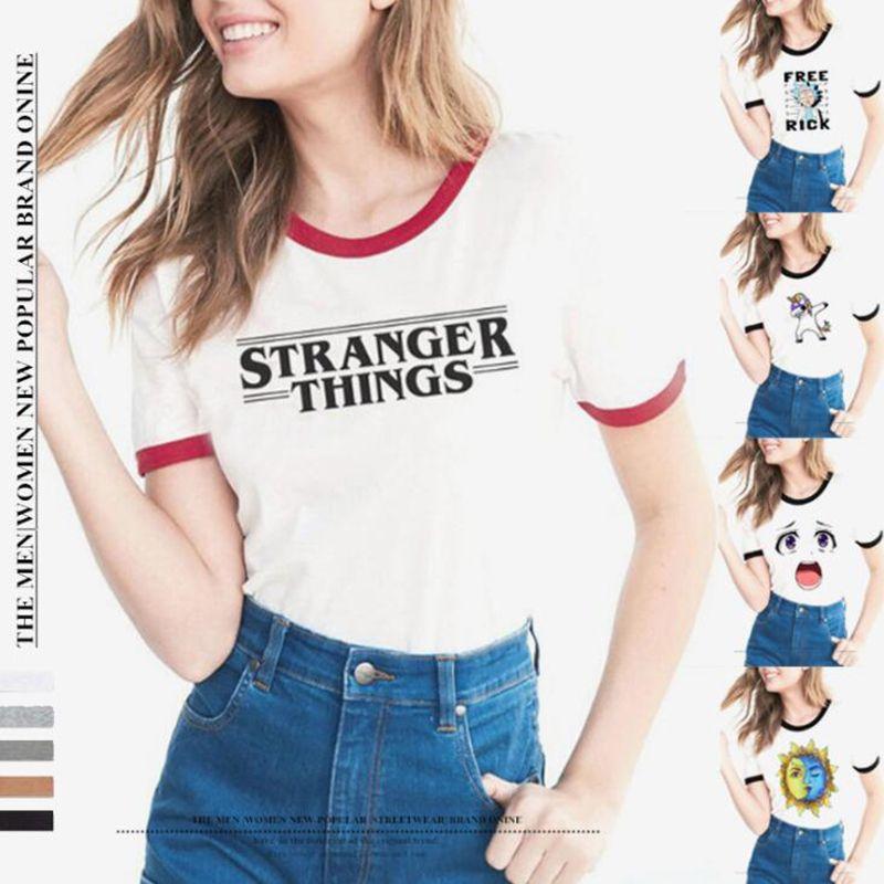 kostengünstig authentisch anerkannte Marken Großhandel STRANGER THINGS Ringer T Shirt Hipster Hemden Tumblr Graphic T  Shirt Damen Herren Brief Print T Shirt Mode Baumwolle Kleidung Top Von ...