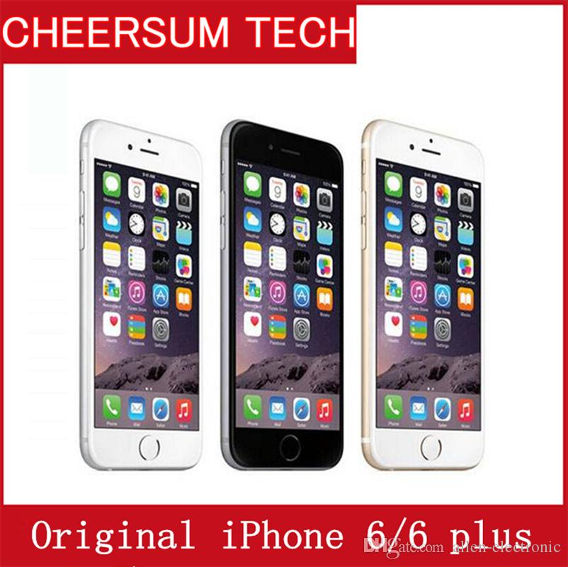 refurbished Unlocked Apple iPhone 6/6 Plus Cell Phones 1GB RAM 16/64GB ROM 4.7'IPS GSM WCDMA 4G LTE Refurbished NO touch id free DHL