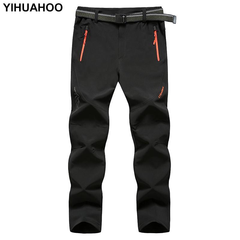 Pantalones delgados YIHUAHOO hombres de la marca de Tactical pantalones impermeables ocasionales de los pantalones de secado rápido luz montaña para los hombres XYN-9916