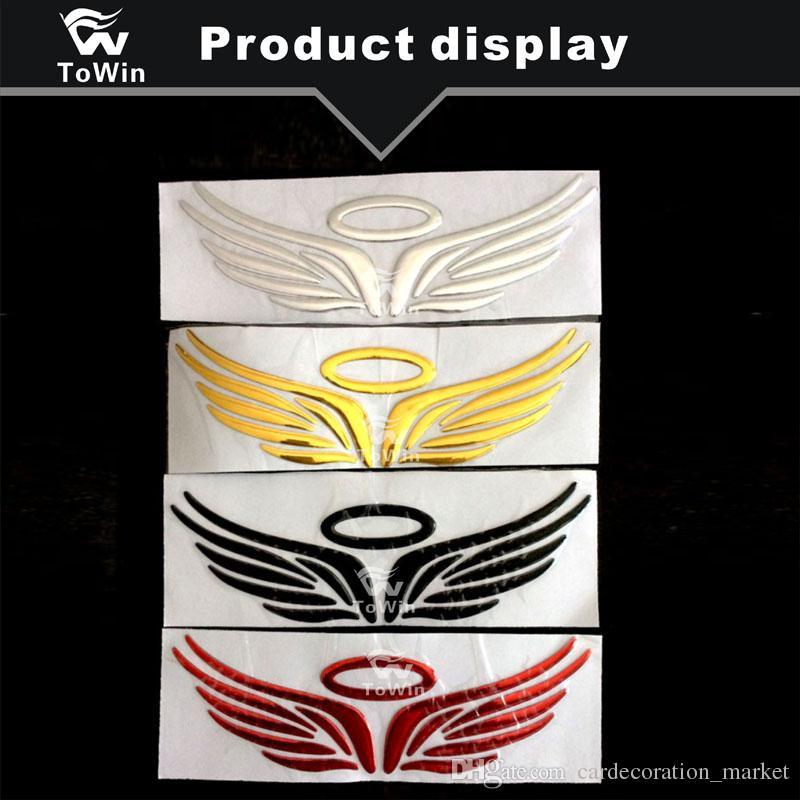 Araba Sticker Evrensel Oto Vücut Dekorasyon Yaratıcı Dekoratif Logo Süsler Araba Dış Aksesuarları 3D Melek Kanatları Tasarım