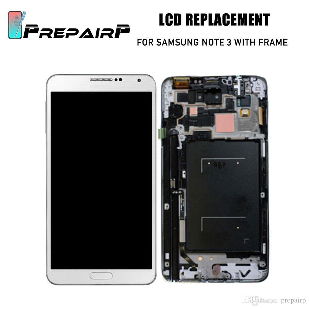 Samsung Galaxy Not 3 N900 Için LCDs Değiştirme Note3 LCD Ekran Ile Çerçeve Dokunmatik Ekran Digitizer Parlak Ayarı
