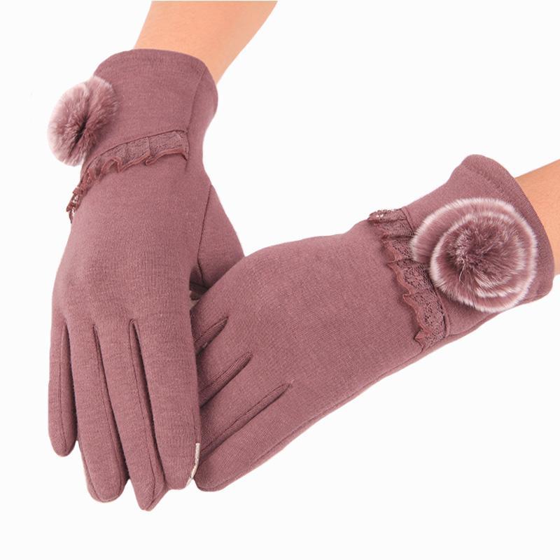 Guanti da donna Guanti da donna Winter Warm Touch Screen Elegante guanti invernali da polso da donna Muffole solide Guanti moda femminile luva