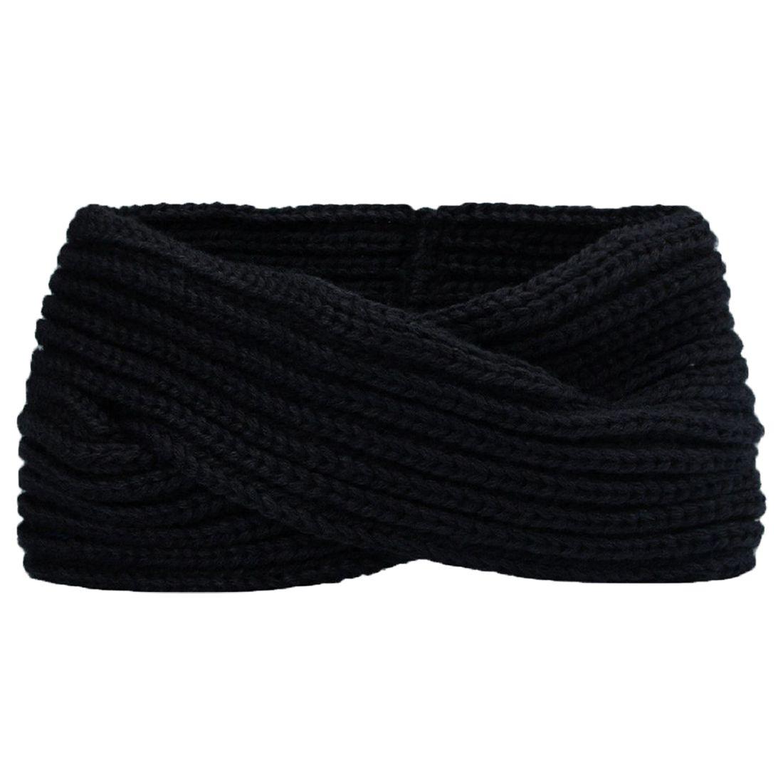 Headband de tecelagem de lã de tricô transversal