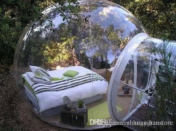 Hotel claro da casa da bolha de 5 * 3m, barracas infláveis do partido da barraca exterior do famoso, barracas da bolha do gramado, barraca exterior da abóbada do acampamento da pessoa 3-4