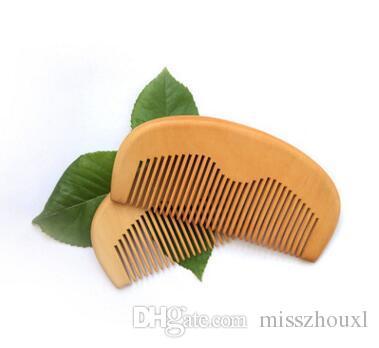 Personnalisé Gravé barbe peigne en bois Peach naturel Peigne Pocket 11.5 * 5.5 * 1cm