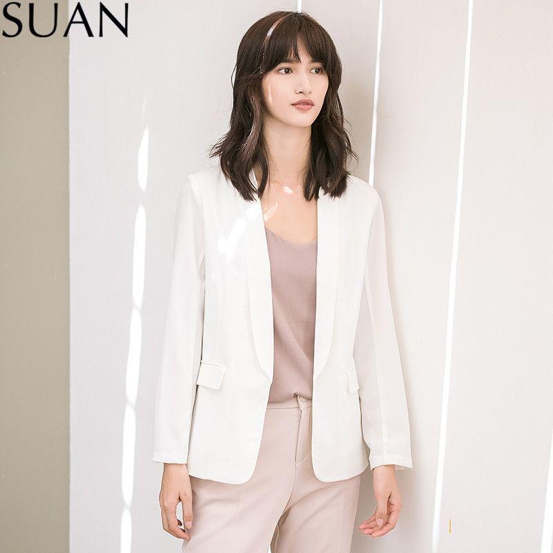 Compre Trajes Suan Feminino Chaqueta 2018 Formal Blazer Ladies qcfrSq0R7 cb6f9f6fea1
