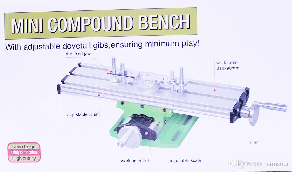 Miniature Precision Mini Multifunction Table Bench Vise Bench Drill Milling Machine Cross Assisted Positioning Tool