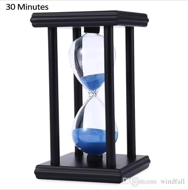 Modern Wood 60 Minute Sand Hourglass Clock Timer Birthday Gift Home Decoration