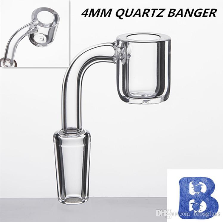 4 millimetri di spessore quarzo Banger Domeless quarzo chiodo Flat top quarzo Banger 10mm 14mm 18mm maschio femmina per bong di vetro