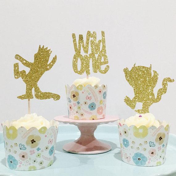 Großhandel Glitter Wild Eine Erste Geburtstag Cupcake Topper Taufe Taufe Party Dekoration Donut Essen Picks Von Afantihourse 2173 Auf Dedhgatecom