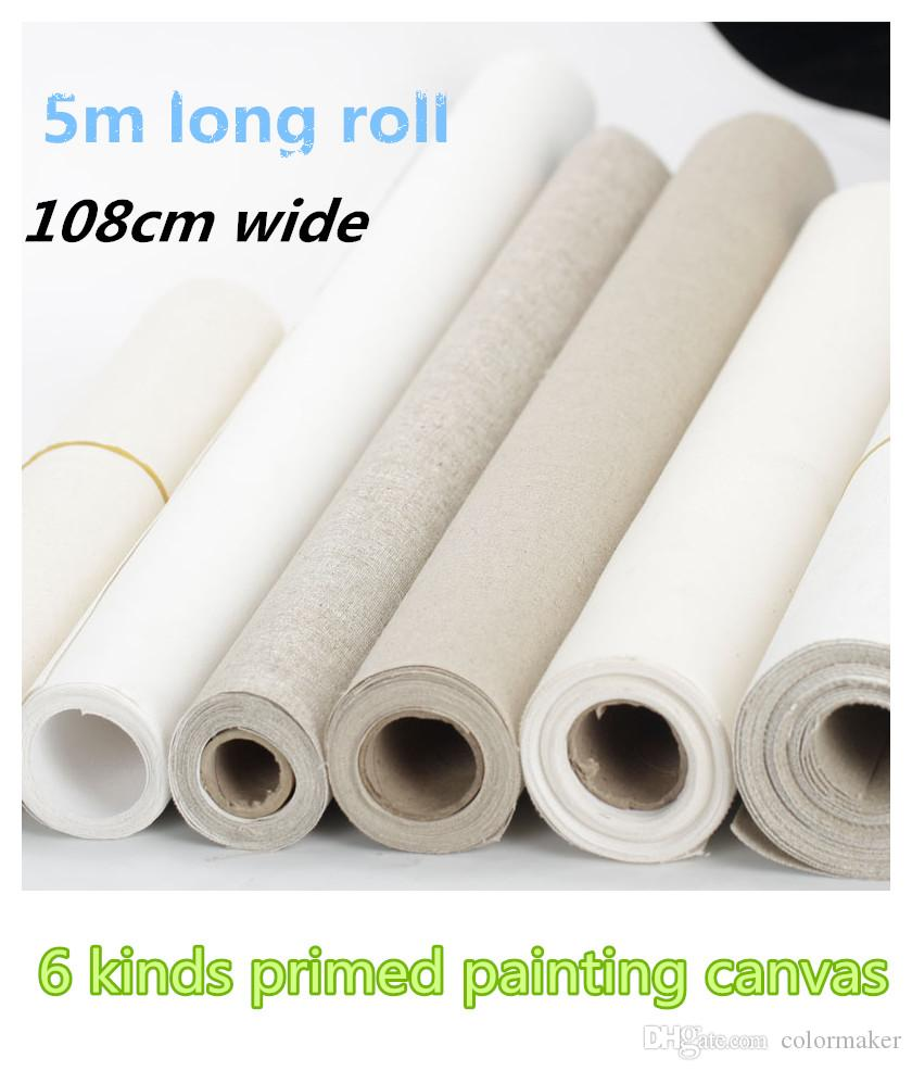 2019 1 08m 5m Roll Wholesale Painting Canvas Roll Artist Blank Painting Canvas Hot Sale Oil Painting Canvas Pure Cotton Canvas Roll From Colormaker
