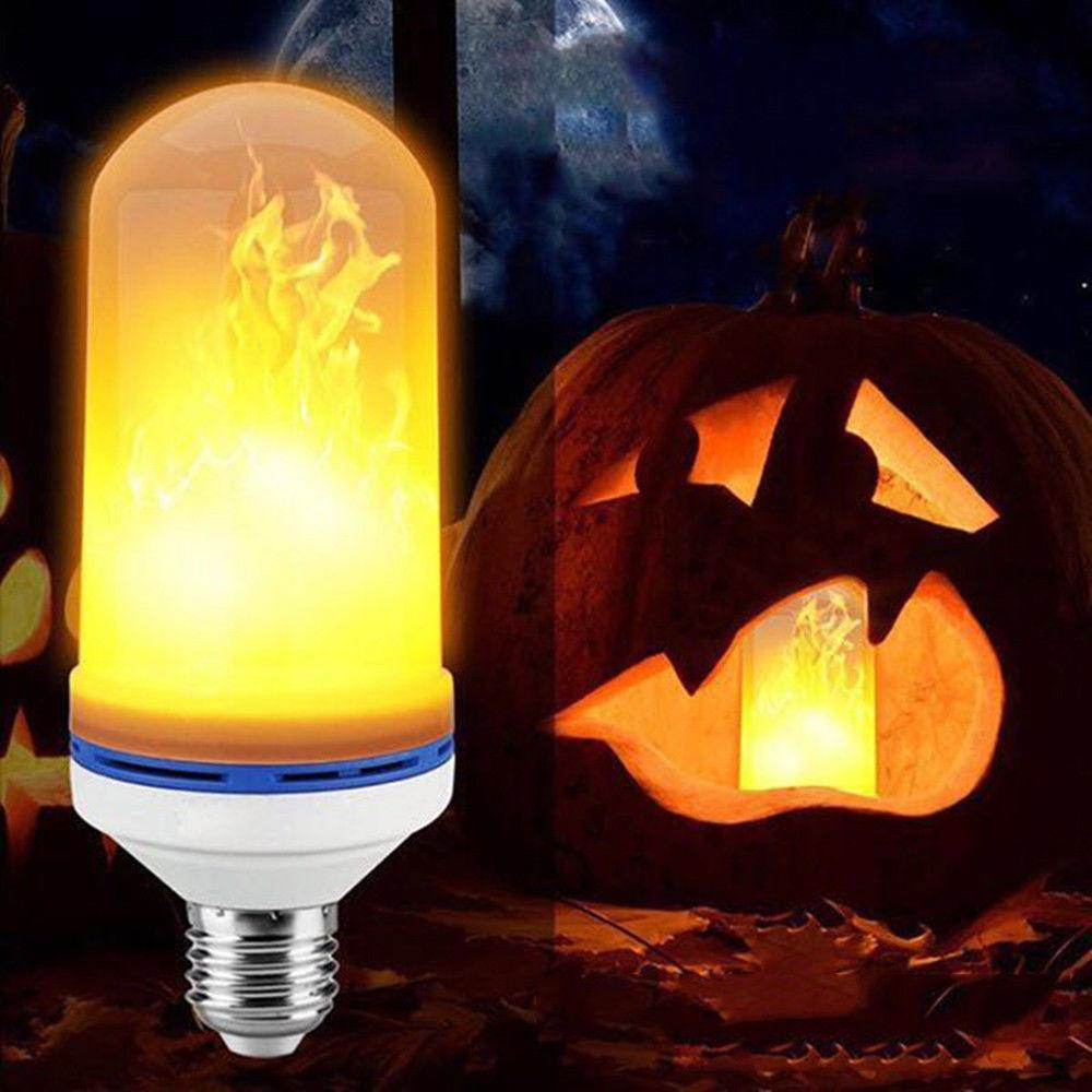 Mes Ampoules Led Scintillent acheter e27 8 w effet de flamme led brûler maïs lumière scintillement  flamme lampe ampoule effet de feu fête du festival de noël décor de 4,67 €  du