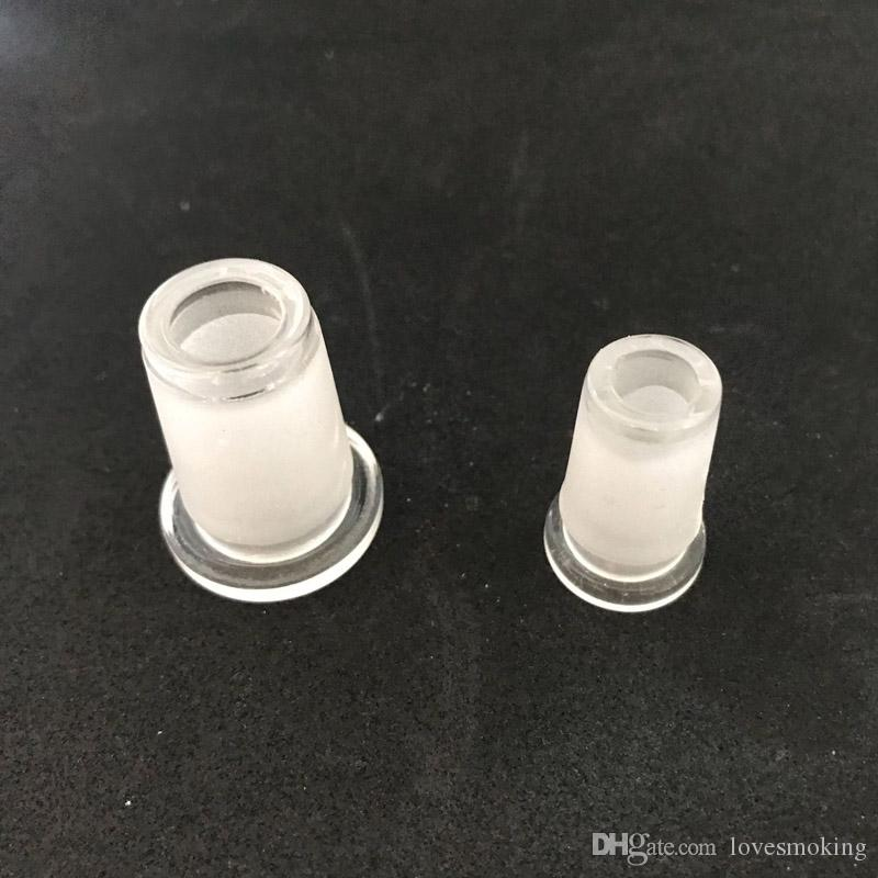 Adaptador de vidrio al por mayor 18 mm macho a 14 hembra y conector 10-14 en 18.8 mm adaptador de vidrio de junta de tierra BD26